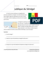 Senegal information and worksheet