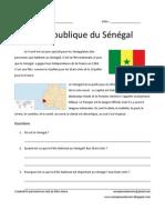 Senegal information and worksheet