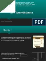AV1 Termodinâmica  Vitória Barbosa