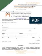 Contrat de Conception de Site Web Hp Comm