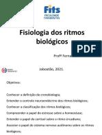 Fisiologia dos ritmos bio. conferencia 1