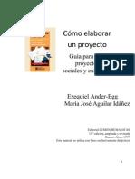 Ezequiel Ander como elaborar unproyecto