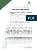 Fechas e instrucciones septiembre 2021