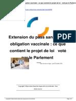 Extension Du Pass Sanitaire Et Obligation Vaccinale Ce Que a9056