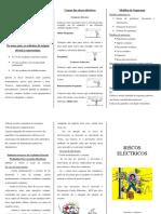 Folheto - Riscos electricos
