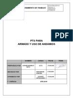 PTS-PAA-CP01 Procedimiento armado de andamios