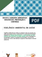 RISCOS e AGRAVOS AMBIENTAIS BIOLOGICOS