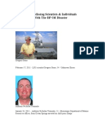 Dead - Jailed - Missing Scientists & Individuals Affiliated With the BP Oil Disaster