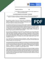 Resolución registro tarifas 2021