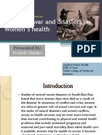 Impact of war and disasters on women's health