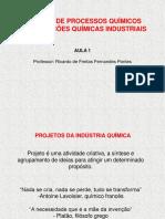 Aula 1 - Projetos de Processos - Prof. Ricardo Pontes