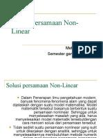 METNUM2010 2011 Solusi Persamaan Non Linear