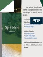 Objectif de l'Audit Des Systeme de Vapeur