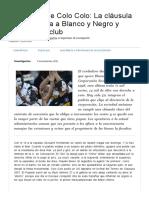 CIPER Chile (2012) Concesión de Colo Colo_ La Cláusula Que Beneficia a Blanco y Negro y Perjudica Al Club