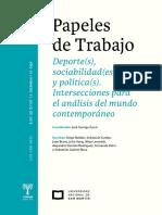 Garriga Zucal, coord. (2018) Deporte(s), sociabilidad(es) y política(s)