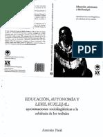 Educacion Autonomia y Lekil Kuxlejal .Pd