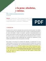 Teorías de La Pena Absolutas, Relativas y Mixtas_Valderrama