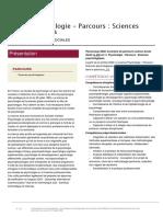 Université de Paris-Licence Psychologie - Parcours - Sciences psychologiques
