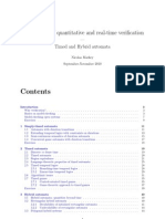 Foundations of quantitative and real-time veritfication - Timed and Hybrid automata
