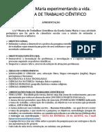 EDITAL DA VI MOSTRA DE TRAABLHO CIENTIFICO