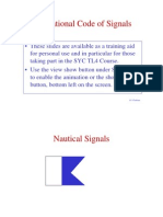 International Code of Signals slides