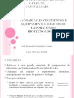 Didática - Vidrarias, Instrumentos e Equipamentos Básicos de Laboratórios