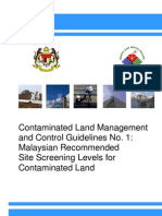 Contaminated Land Management and Control Guidelines No-1_Malaysian Recommended Site Screening Levels for Contaminated Land