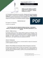 PROYECTO DE LEY  146/2021-CR