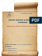 Relatiile de familie in sec XIX - I.S.D.R.