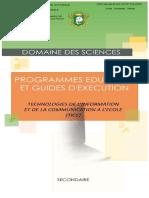 Programme  TICE-SECONDAIRE - Novembre 2014