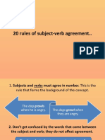 20 rules of subject-verb agreement