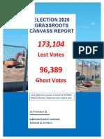 Final Election 2020 Grassroots Canvass Report