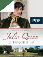 01 - O Duque e Eu - Série Os Bridgertons - Julia Quinn