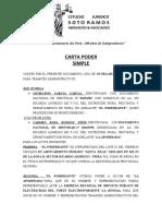 Carta Poder Tramites Administrativos