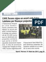 2011-04-01 Acord Caixa Laietana - Diari Sport XXL