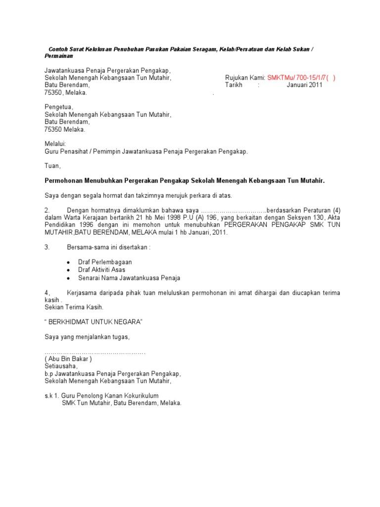 Contoh Surat Rasmi Permohonan Doc Rasmi Q