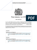 Water Industry Act 1999