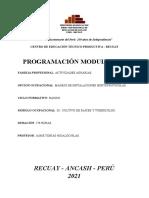 2021 - MÓDULO III - CULTIVO DE RAICES Y TUBERCULOS