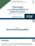 1.1 - Exame musculoesquelético