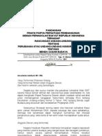 Pandangan Fraksi PPP tentang RUU BCB Rapat Kerja Komisi X, 15 Feb 2010