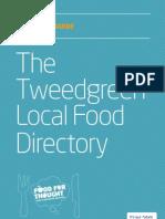 Tweedgreen Spring 2011 Local Food Guide
