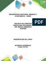 Presentación del curso Botánica Económica