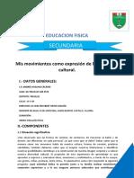 EXPERIENCIA N° 04  EDUCACION FISICA SECUNDARIA