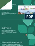 X FEIRA MUNICIPAL DE CIÊNCIAS E CULTURA DE LF - orientações