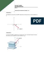 PROBLEMAS - FUERZAS - MOMENTOS Y RESULTANTES 2D