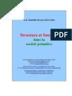 A.R. Radcliffe-Brown - Structure et fonction dans la société primitive