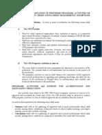CPE -criteria