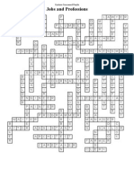 Job Crossword Puzzle-Solution