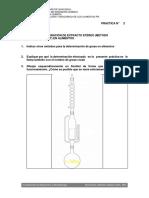 GRASA - Metodo de Soxhlet