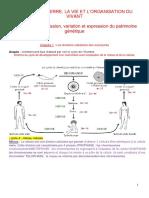 partie 1 chap 1 spé SVT division cellulaire